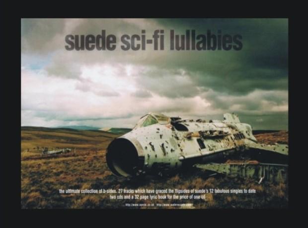 Poprilično Ballardijanski artwork albuma 'Sci-Fi Lullabies' u stvari prikazuje uništeni English Electric Lightning pored vojne baze u Nortumberlandu