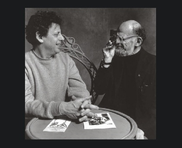 Philip Glass i Allen Ginsberg, 1990.