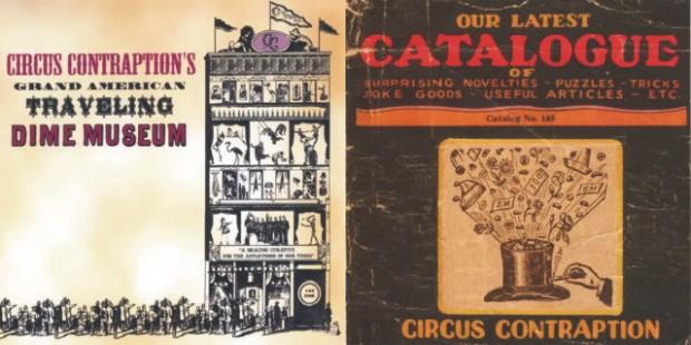 Retro štih prisutan na omotima albuma Circus Contramptiona