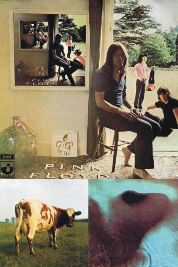 Omoti albuma 'Ummagumma', 'Atom Heart Mother' i 'Meddle'