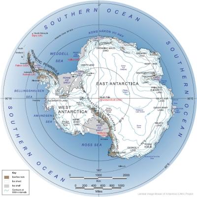 Karta Antarktikr. za detaljniji prikaz kliknite na sliku