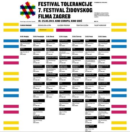 Filmski program Festivala tolerancije.  Kliknite na sliku za detaljniji prikaz!