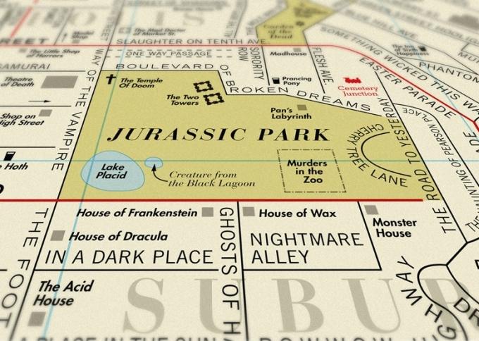 Dorothy ide dalje: filmska karta sa prepoznatljivim 'LA road map' dizajnom