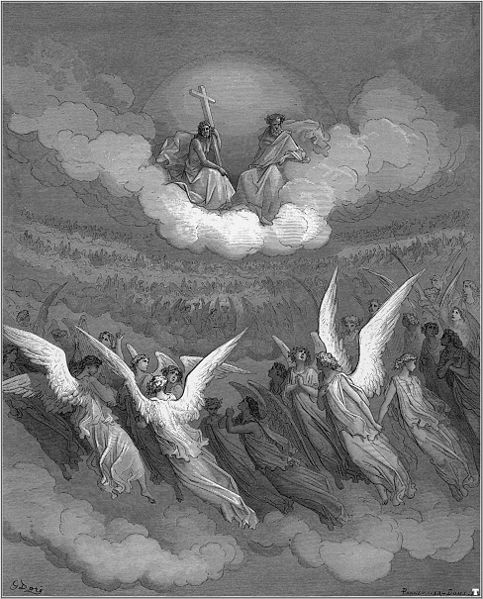 Heavenly Hosts! (litografija: Gustave Dore)