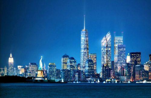 Simulacija u potpunosti obnovljenog kompleksa Svjetskog trgovinskog centra. Kao krajnji rok dovršenja se spominje 2020.