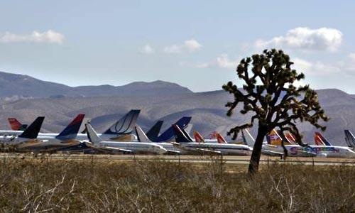 Groblje zrakoplova (boneyard) u pustinji Mojave