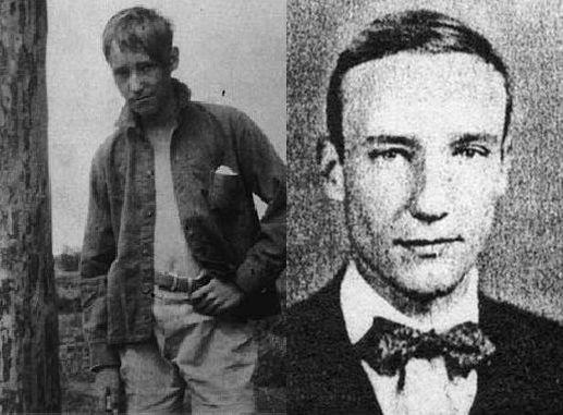 Dvije od rijetkih Billovih fotografija iz mlađih dana - u školi za dječake u Los Alamosu (1929.), te desetak godjna starija, o čijem se podrijetlu lome koplja (godišnjak s Harvarda, ili foto iz Dubrovnika')