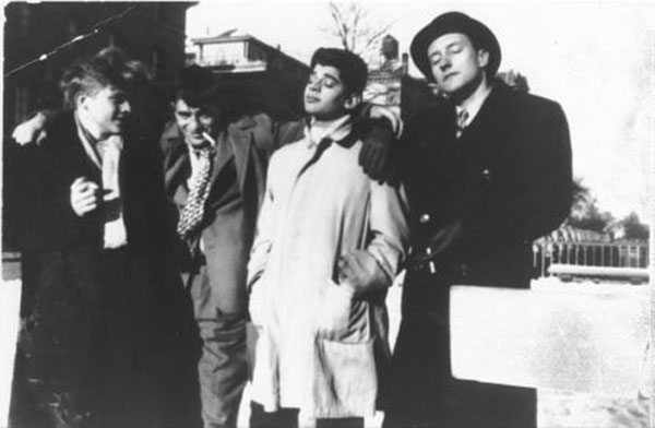 Hal Chase, Jack Kerouac, Allen Ginsberg i William S. Burroughs, 1944., New York