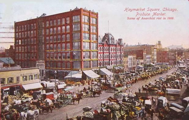 postcard-chicago-haymarket-square-market-wagons-awnings-crowd-c1910