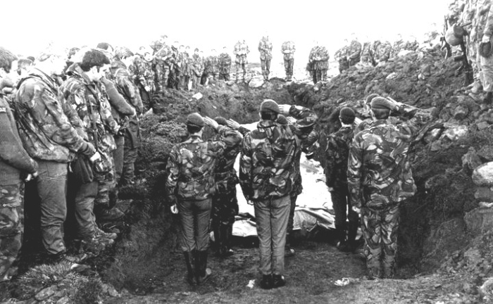 Burial at Falklands