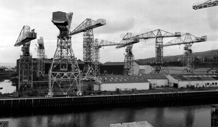 One of many shipyards, Strathclyde, 1986. Can you notice any soul in?