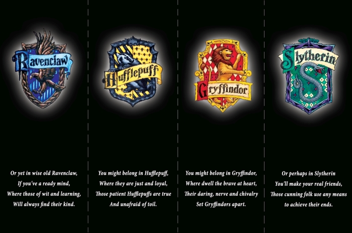 Harry Potter Bookmarks - The Four Houses of Hogwarts