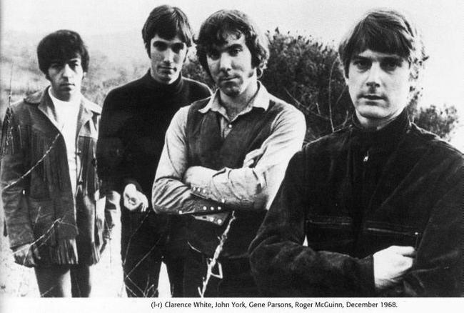 The Byrds u prosincu 1968: Clarence White, John York, Gene Parsons i Roger McGuinn
