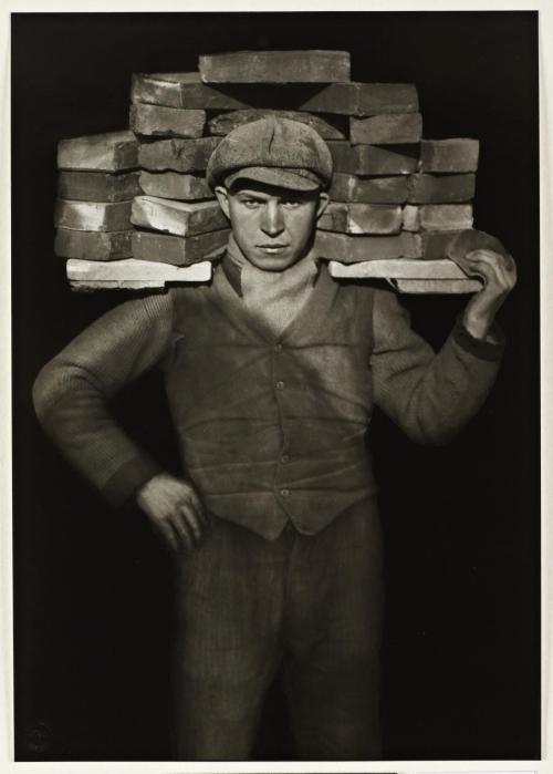 Bricklayer 1928, printed 1990 by August Sander 1876-1964