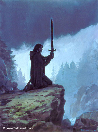 Ted_Nasmith_-_Túrin_Prepares_to_Take_His_Life